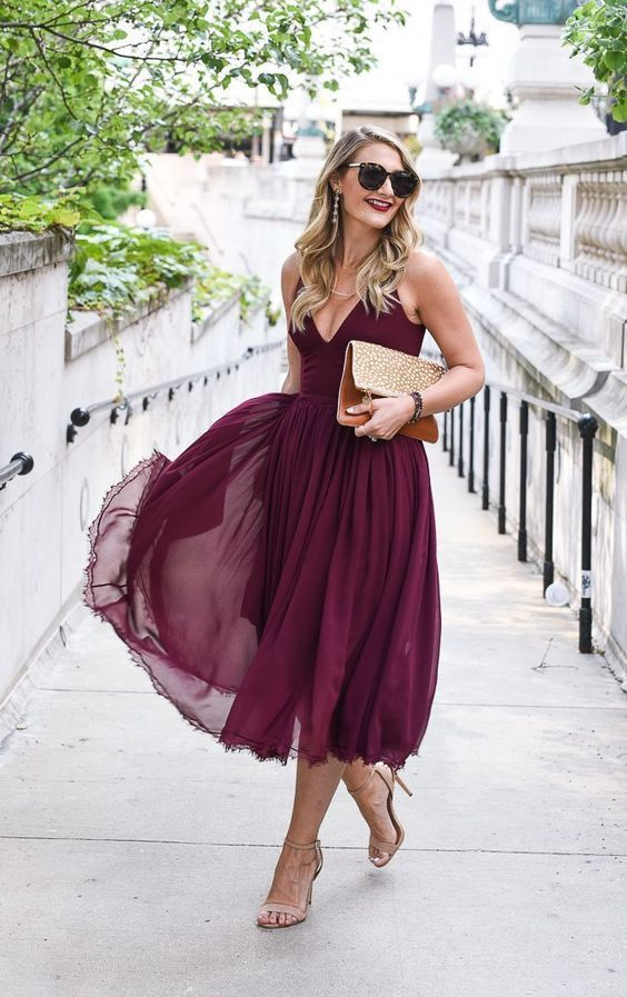 Gorgeous Fall Wedding Guest Outfits - crazyforus #weddingguestdress