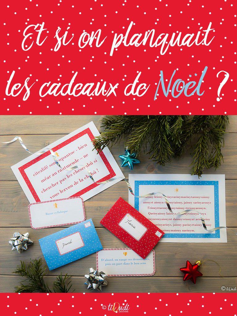 Et Si On Planquait Les Cadeaux De Noël Chasse Au Trésor
