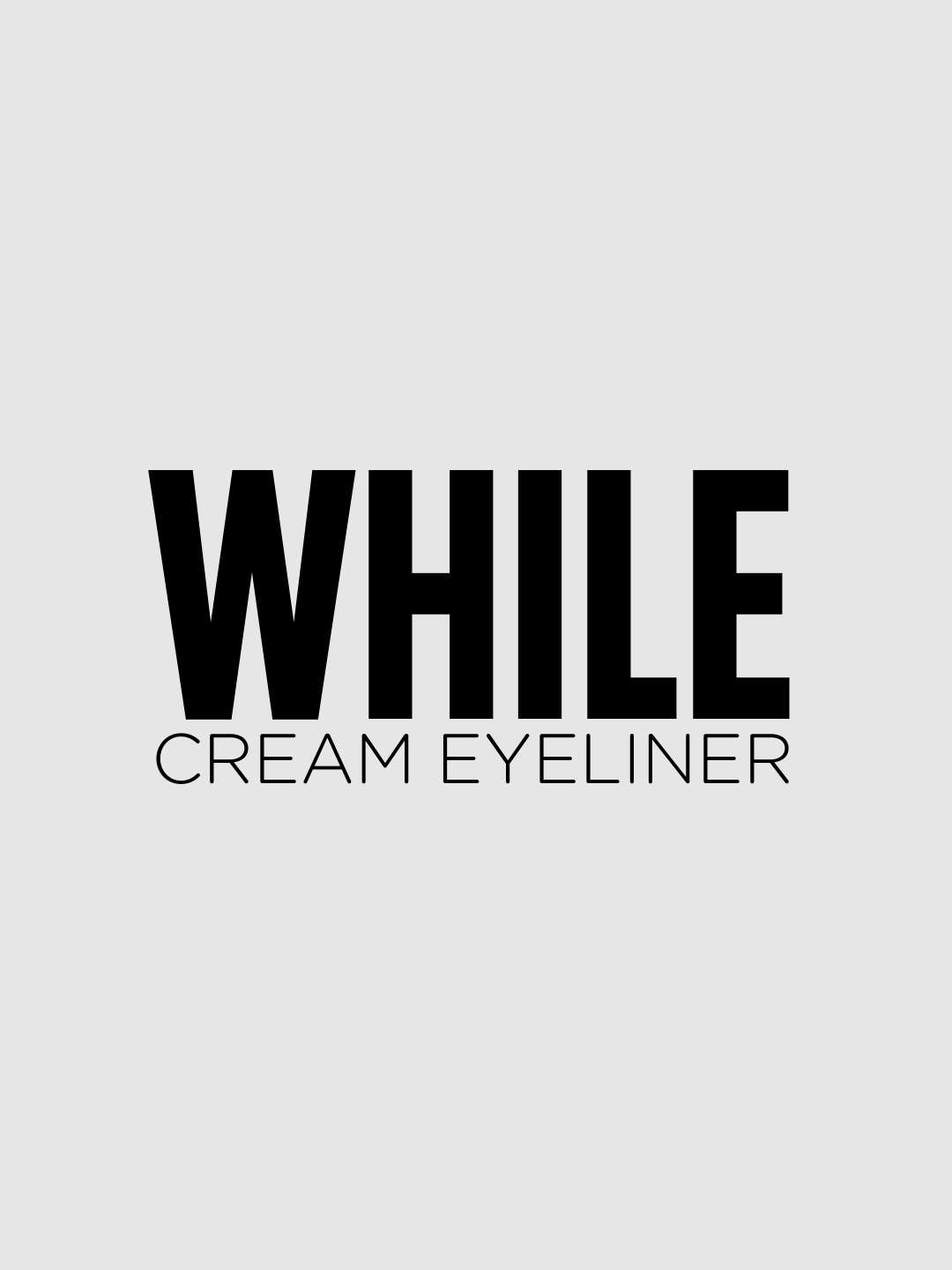 Treat yourself with the silky and soft texture of our gel eyeliner, designed for easy use and long lasting performance thanks to the no transfer formula. Available in four colours, the eyeliner is rich in castor oil, a natural anti ageing agent that renders your skin elastic.   Discover more on http://wemakeup.it/#WHILE_cream_eyeliner Discover more on http://wemakeup.it/#WHILE_cream_eyeliner