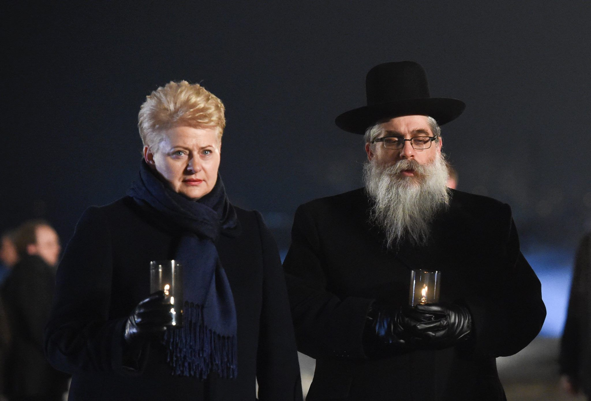 Holocaust Memorial Day. President Grybauskaite at Auschwitz with other world leaders, to mark the 70th anniversary of the liberation of this concentration camp..jpg (2048×1390)