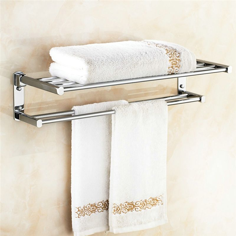 Copper Towel Rack For Bathroom Chrome Plating Craft European Style