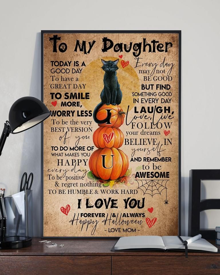 Norry Halloween 2020 To My Daughter Poster   Halloween Gifts For Daughter in 2020