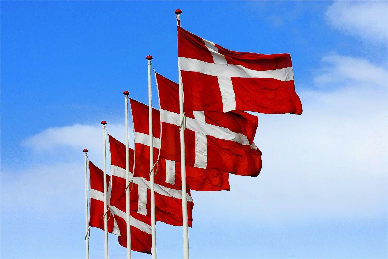 Danish Flags Danish Flag Denmark Copenhagen Denmark