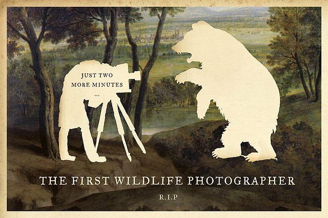 the first wildlife photographer. r.i.p. #design #art