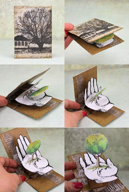Pop up atc by arte banale this relates to humanities and for Pop up brochure template