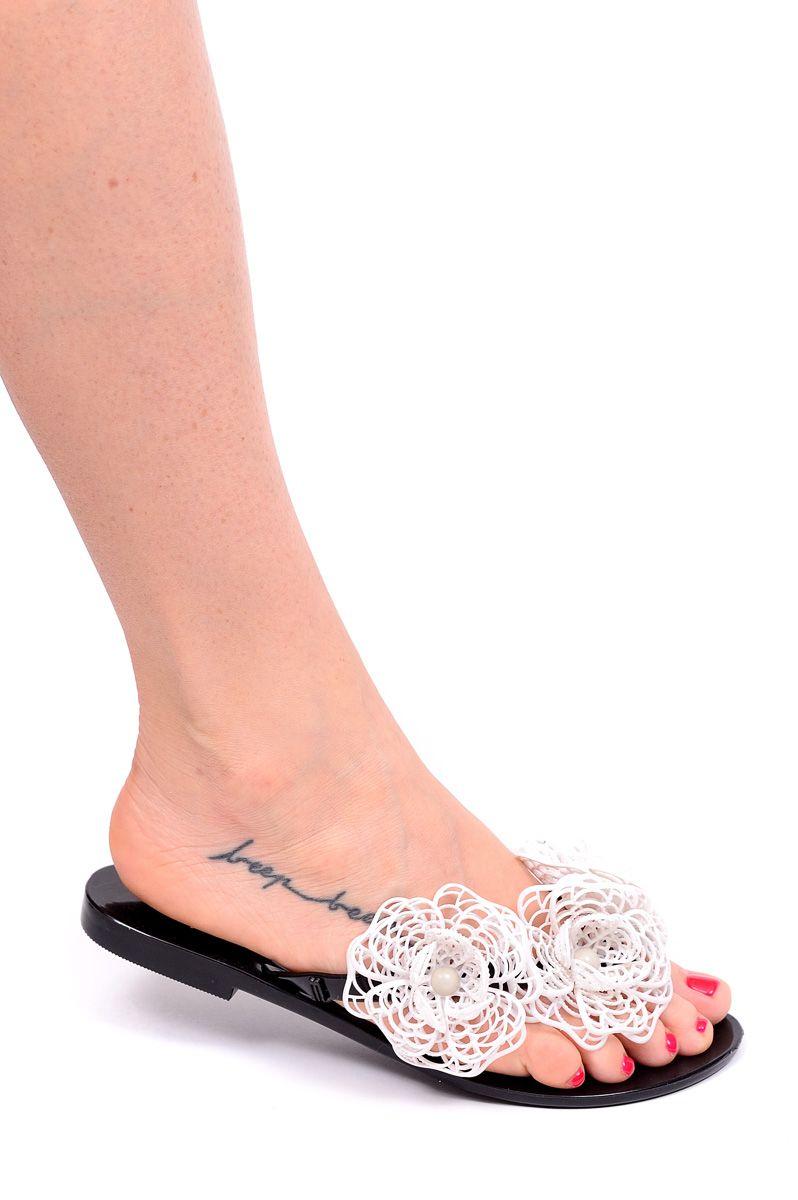 Melissa Klapki Japonki Harmonic Czarno Biale 38 5662232977 Oficjalne Archiwum Allegro Shoes Slippers Mule Shoe