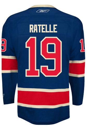 New York Rangers VINTAGE Jean RATELLE  19 Official Third Reebok Premier  Replica NHL Hockey Jersey (HAND SEWN CUSTOMIZATION) 329ed5888
