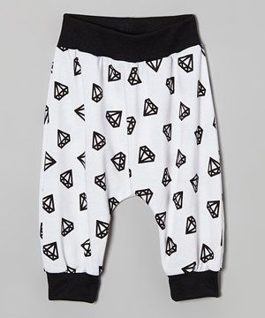 This White & Black Diamond Harem Pants - Infant, Toddler & Girls by Dreaming Kids is perfect! #zulilyfinds