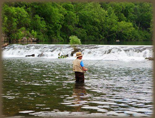 The waterfall at dawt mill tecumseh missouri not far for Fishing lakes in missouri