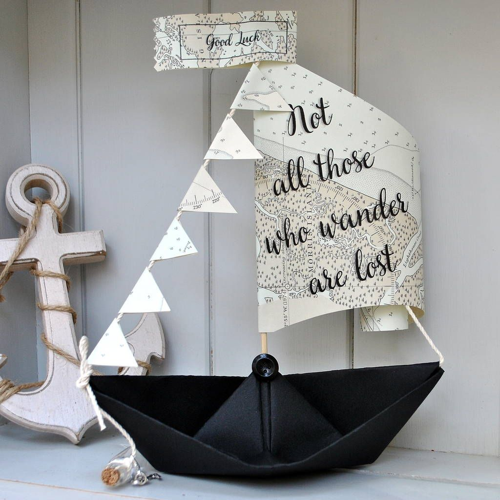 Personalised Sail Boat Card In