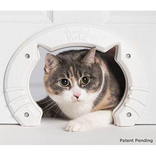 The Kitty Pass Interior Cat Door Hidden Litter Box Pet Door For Cats