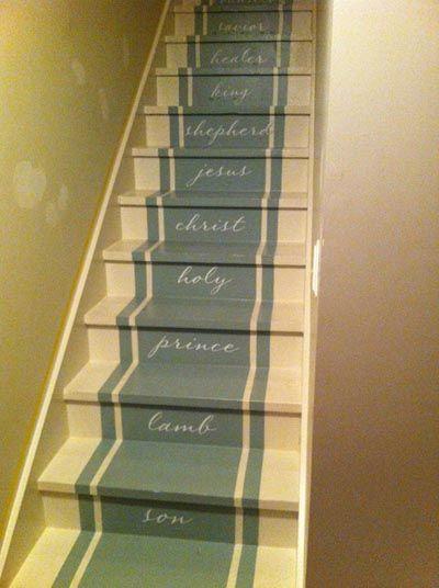 ideas para pintar las escaleras de madera