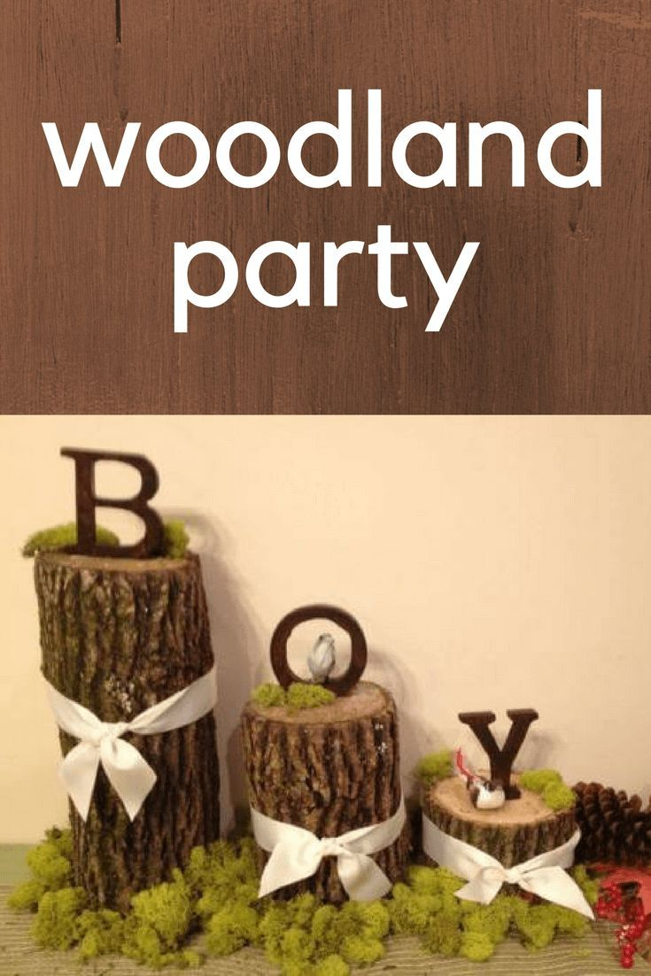 Woodland forest friends baby shower decor ideas