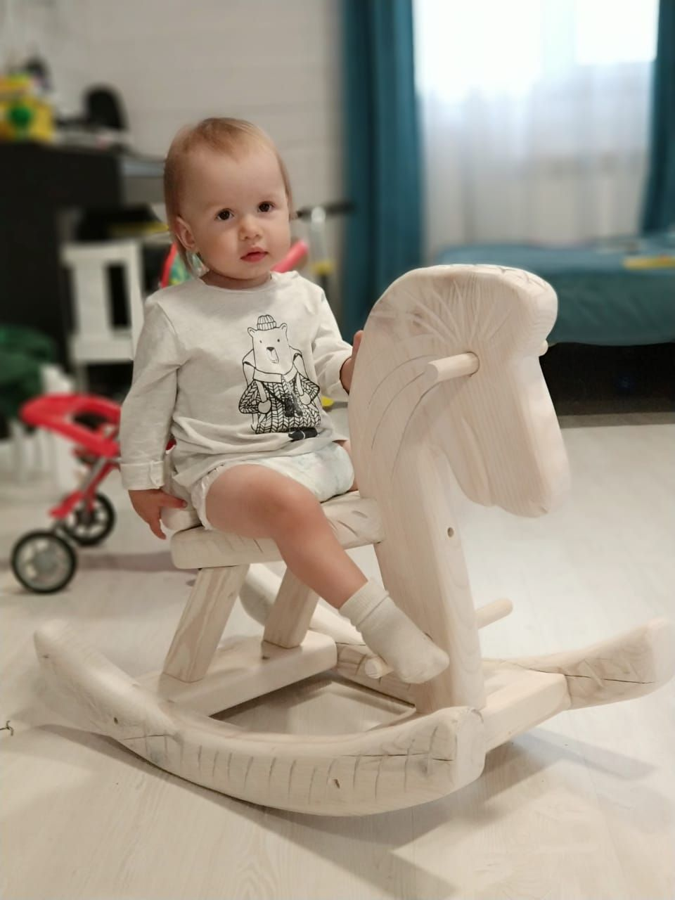 Pin On Wooden Rocking Horse