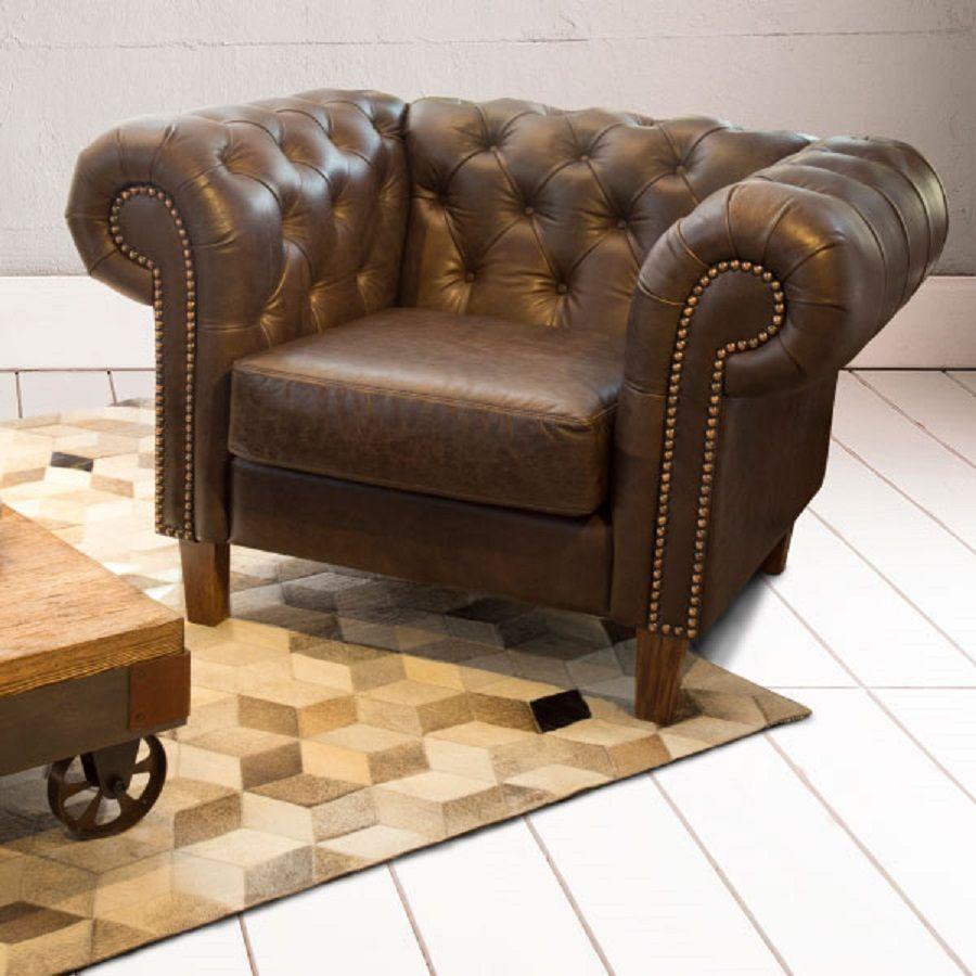 V Lez Home Mobiliario De Cuero Con Memoria Poltrona Capitoneada  # Muebles Puro Cuero