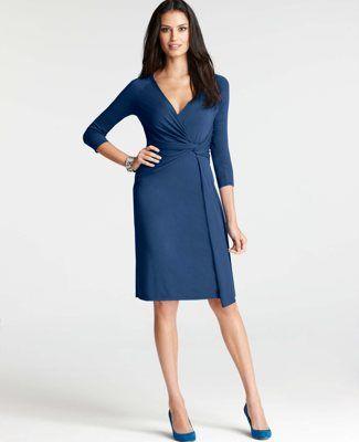 e94af1f57a25 Knit Jersey Side Twist Dress | Ann Taylor. Classic | My Style ...