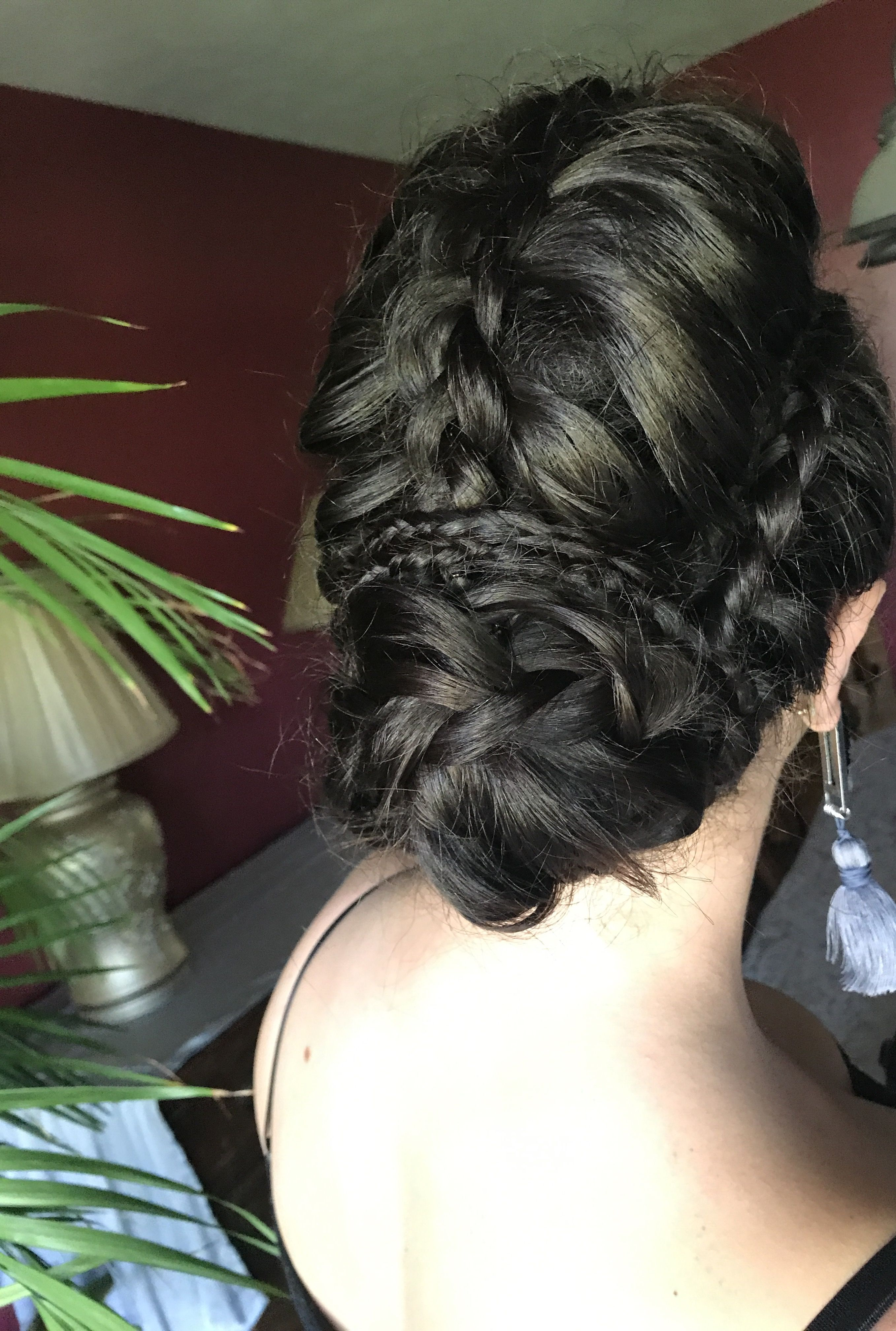 Mohawk braid braid mohawkbraid braidedupdo braids updo hair