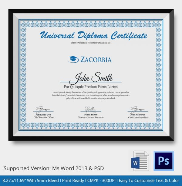 how to make a diploma certificate
