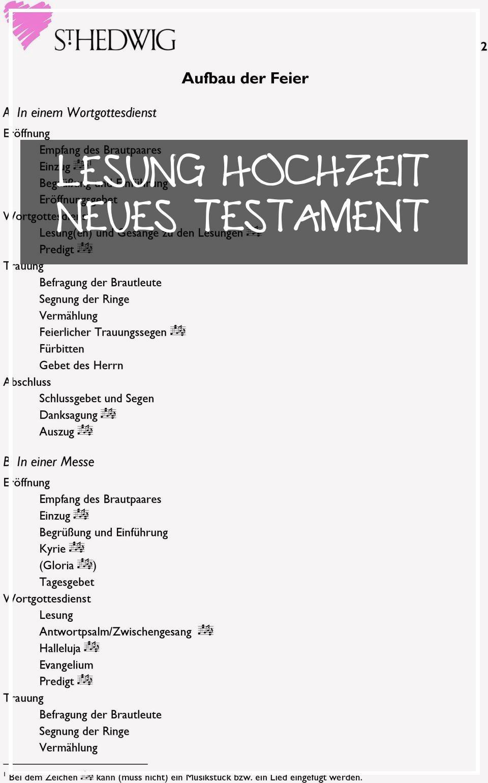 Best 12 Lesung Hochzeit Neues Testament Wedding Concept