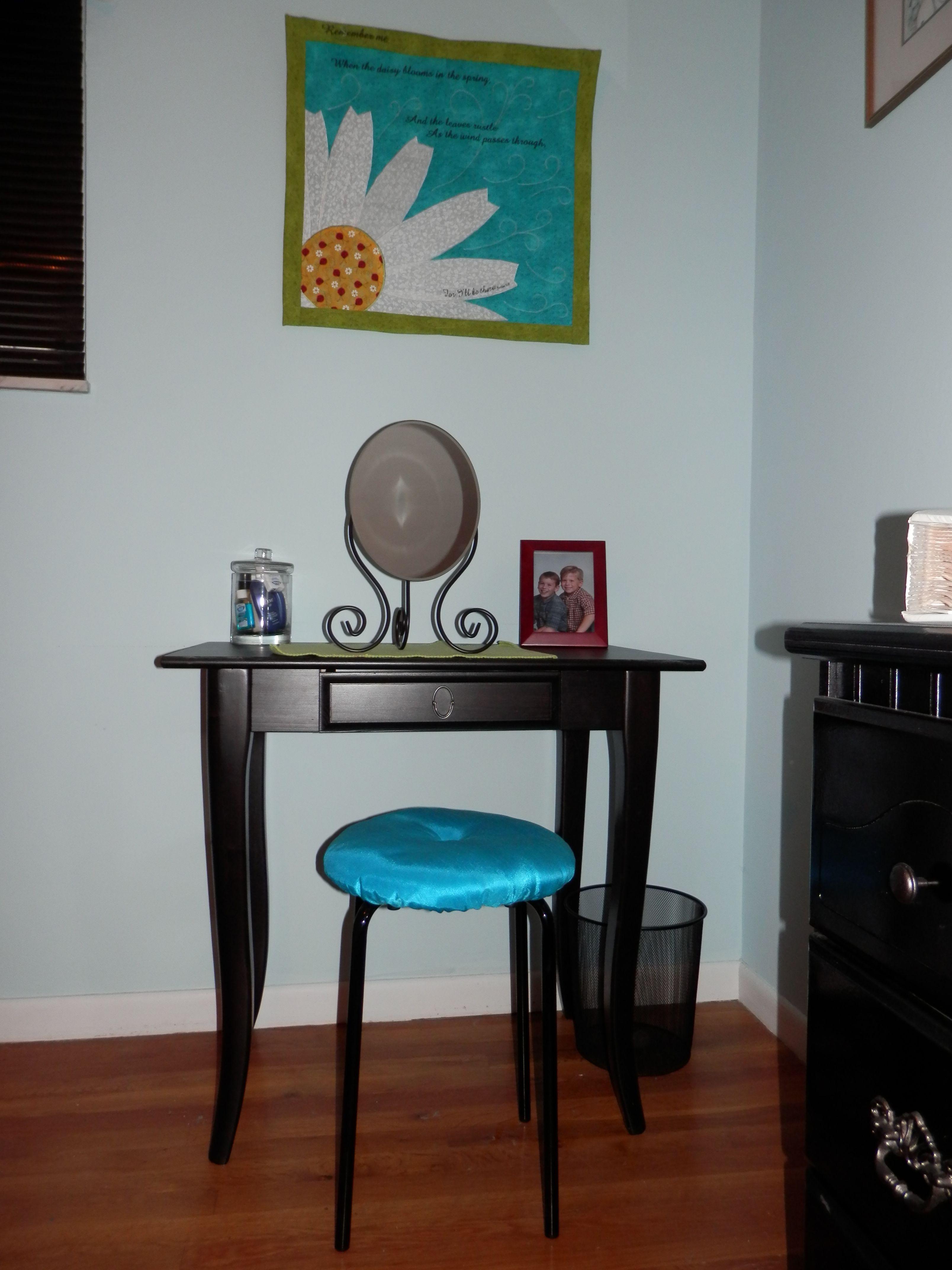 Ikea guest room vanity leksvik desk myken mirror i added a bar