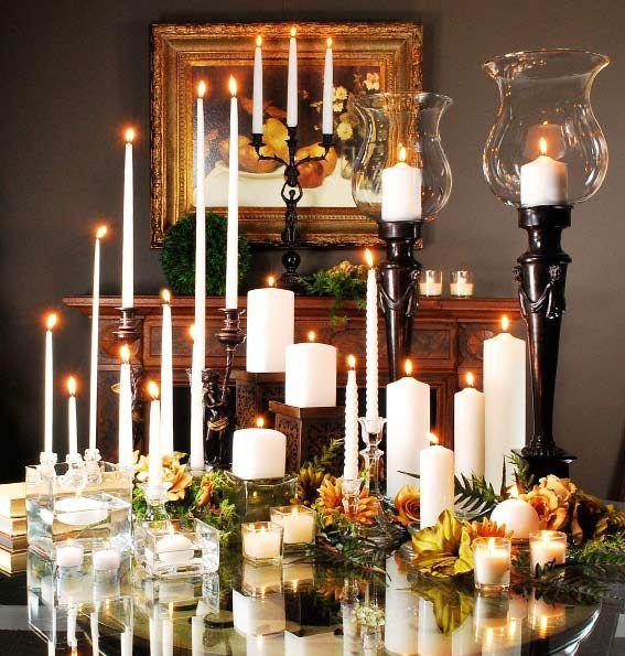 Bulk Candle And Holder Pillar Wedding Centerpiece Vigil Liquid