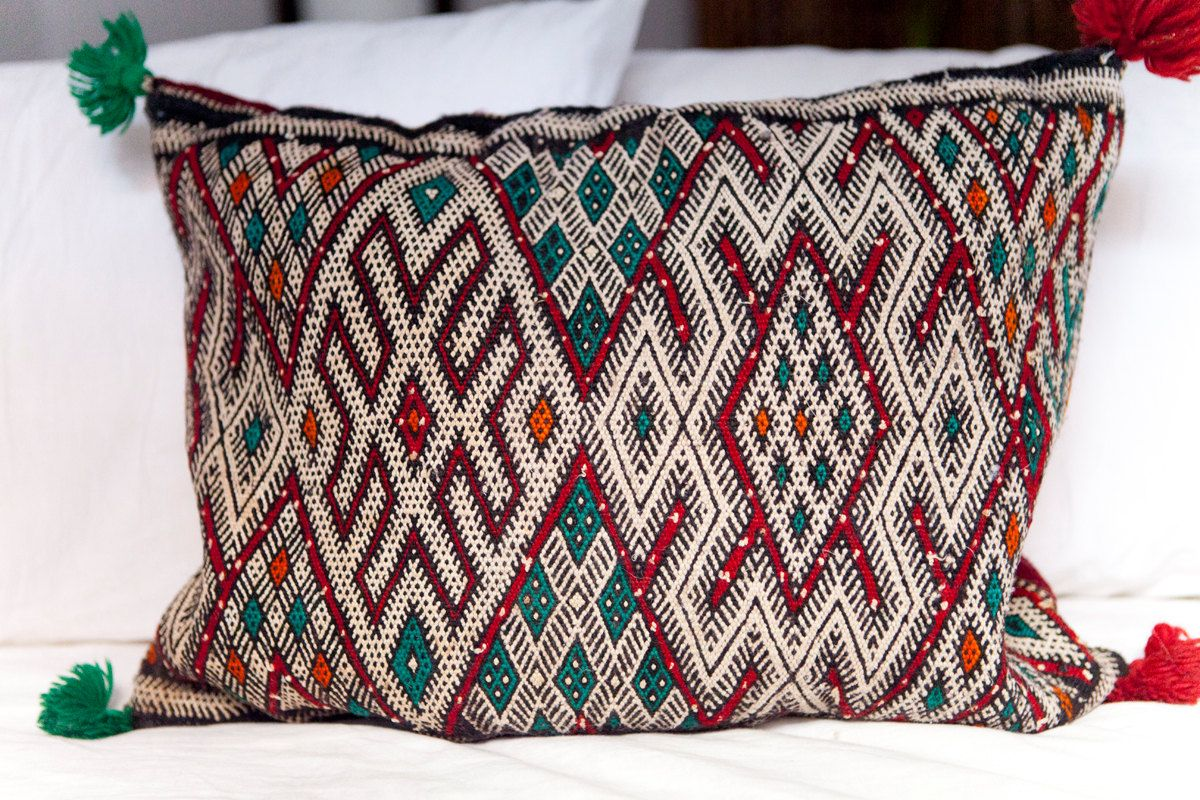 baba pile xl pillow pillows handmade view souk products morocco all kilim shop bohemian moroccan