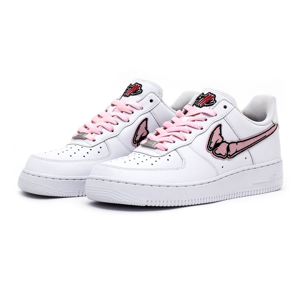 FATAL AIR FORCE 1 Pink   White Low Custom Sneakers – STILLALIVE e827c8cab