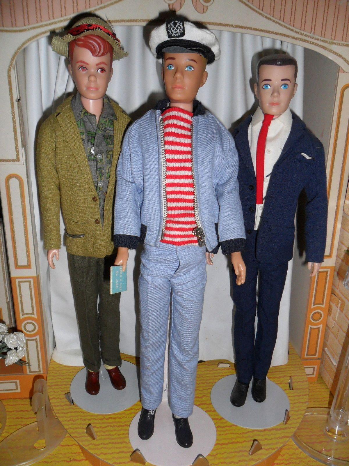 Allan With Kens In Yachtsman Special Date Outfits 1960 S Barbie Wardrobe Ken Barbie Doll Vintage Barbie Dolls