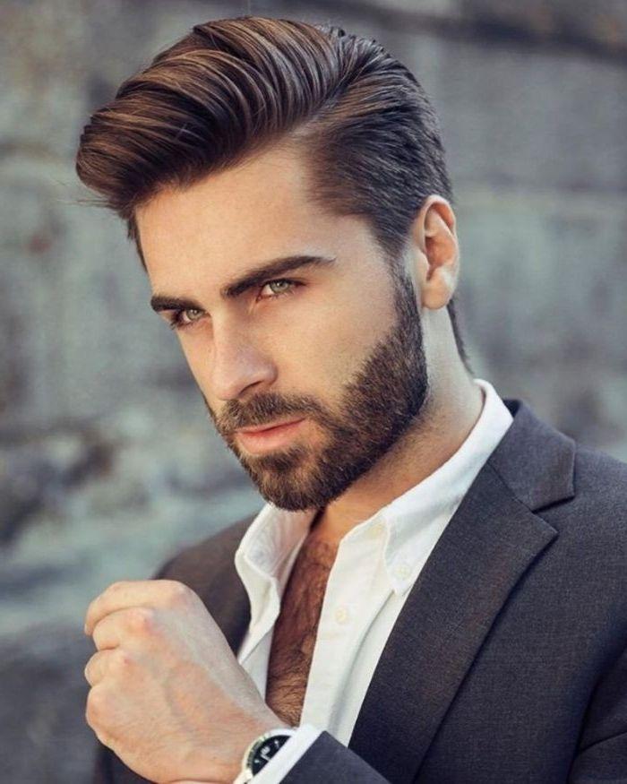 Jungen Haarschnitt Moderne Frisuren Haarschnitt Mann Bart Ideen Klassischer Stil Thick Hair Styles Long Hair Styles Men Mens Hairstyles With Beard