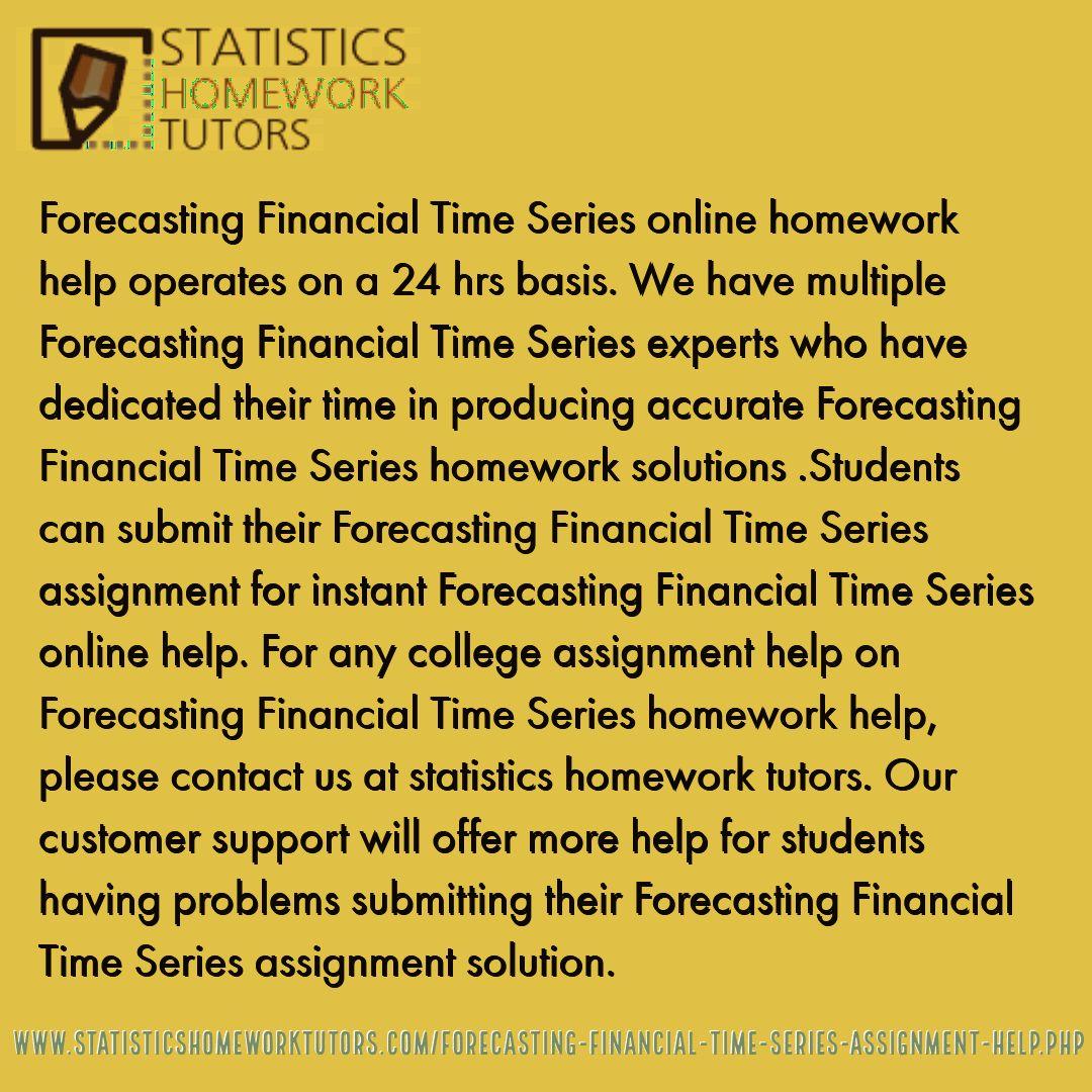 Time series homework help