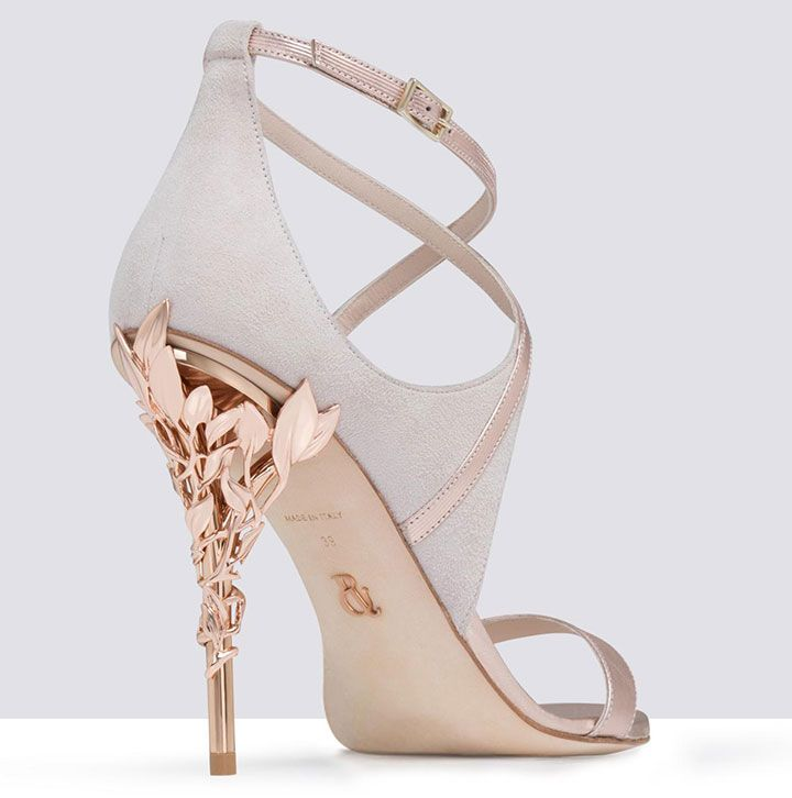 5826155e2c8 Pink Wedding Shoes With Rose Gold Heels ~ sexy back  Eden Heel Sandal