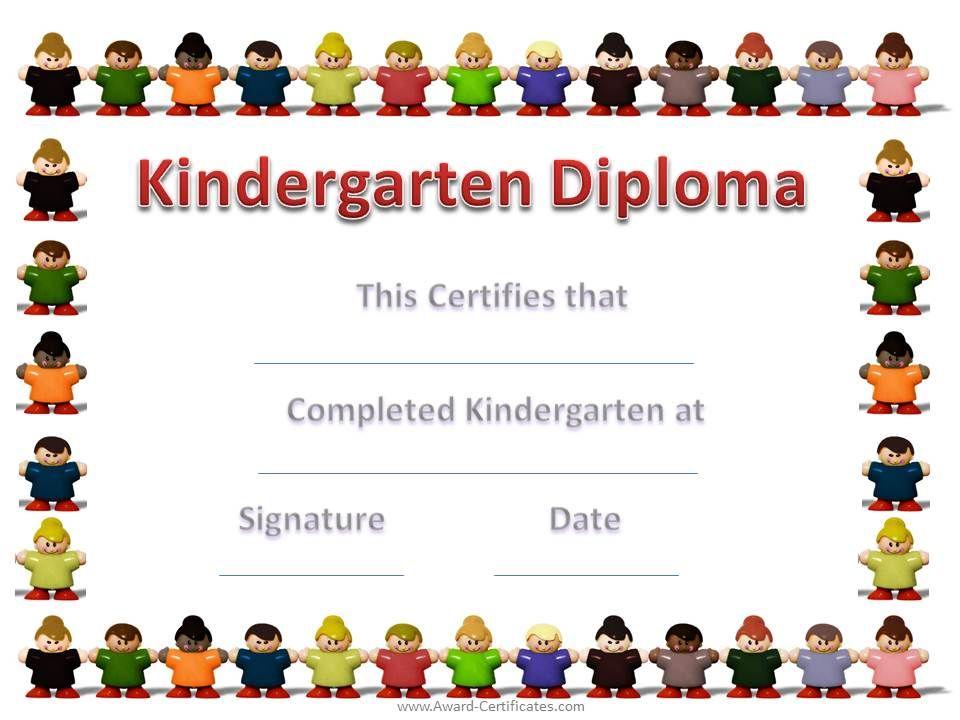 kindergartengraduationcertificatetemplate