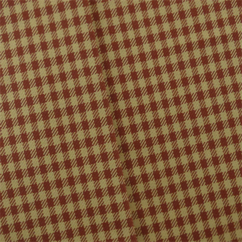 Red Beige Gingham Twill Home Decorating Fabric Home Decor