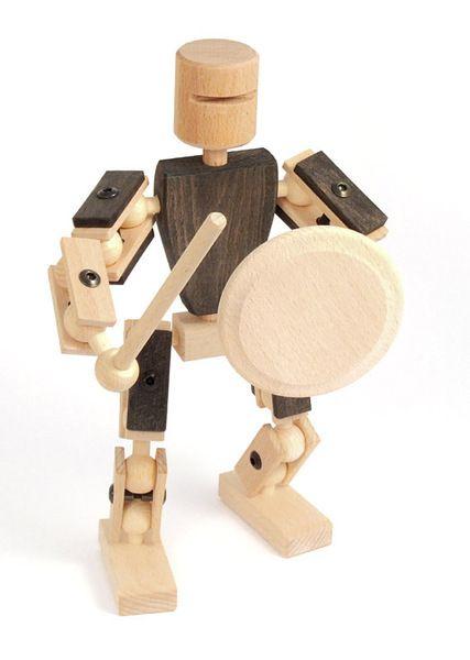 b5e23cead02ca8 Schwarzer Ritter von Helden aus Holz Bewegliche Spielfiguren aus Buchenholz  zum selbst Zusammenbauen. Ein kreatives Holzspielzeug