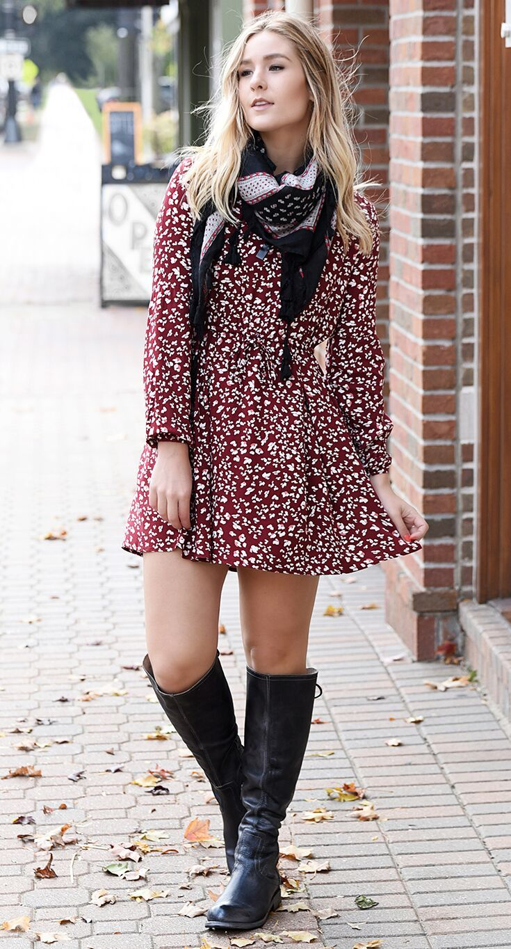 Surrey Fall Boots Outfit Black Leather Boots Tall Black Riding Boots [ 1364 x 735 Pixel ]