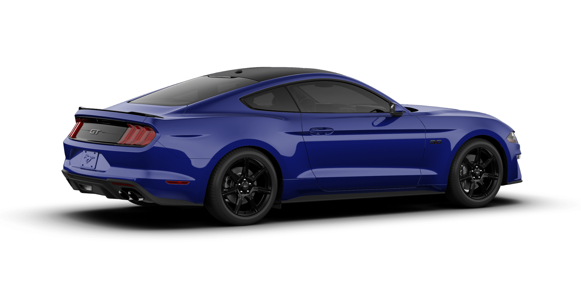 2018 Ford Mustang Kona Blue Black Accent Package Mustang Hybrid Car Ford Mustang