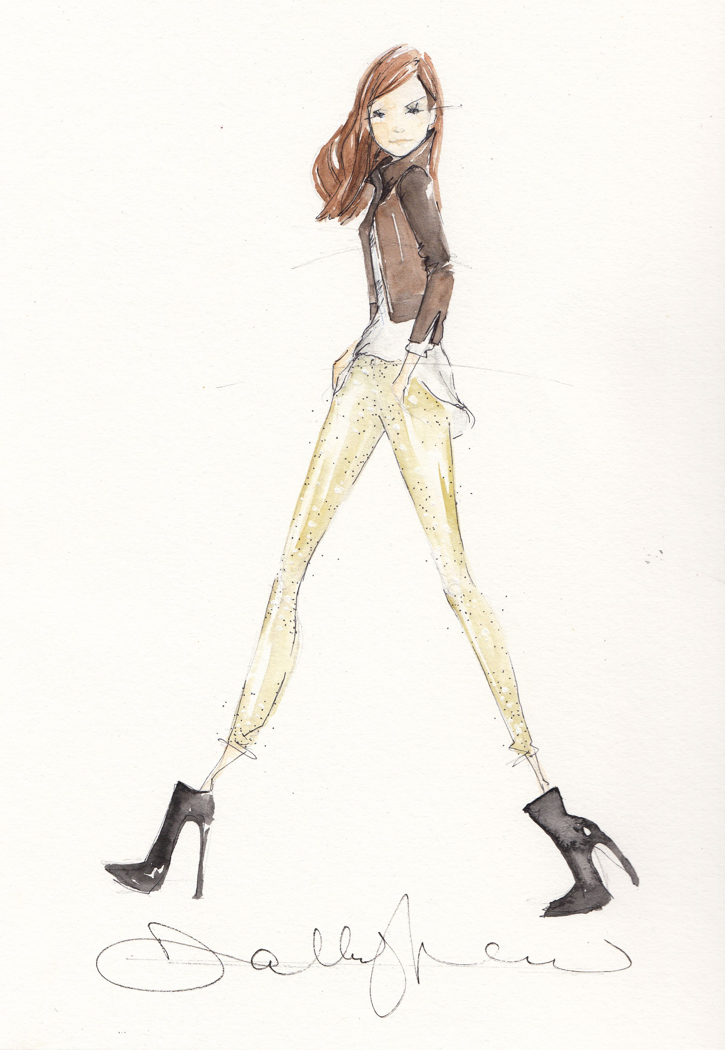 Lovely artistic illustration style—artist, Dallas Shaw❣ dallasshaw.com