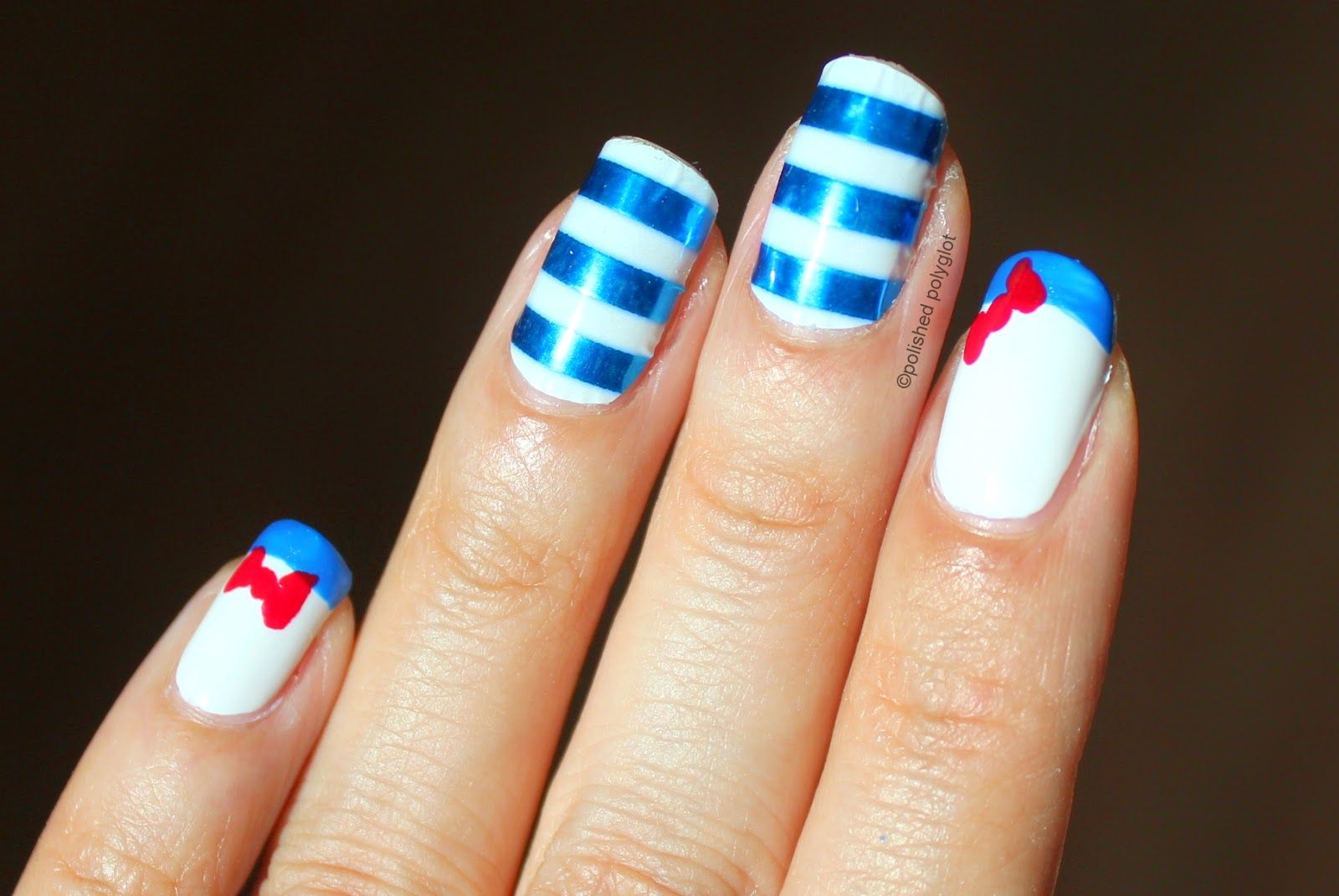 Polished Polyglot: NOTD: L\'oréal nail wraps French Marinière | food ...
