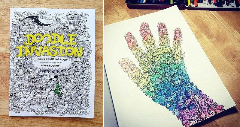 Artist Kerby Rosanes Presents Doodle Invasion The Awesome