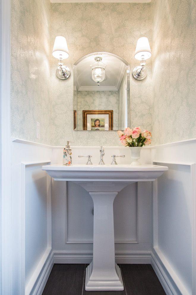 Powder Bath Ideas Powder Room Traditional With Gold Frame Crown