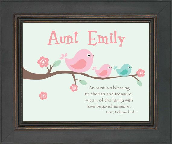 Aunt personalized gift custom gift for a special aunt mothers aunt personalized gift custom gift for a by kreationsbymarilyn 1500 negle Images