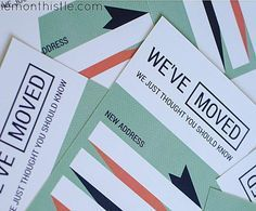 tell everyone youve moved with these stylish change of address cards