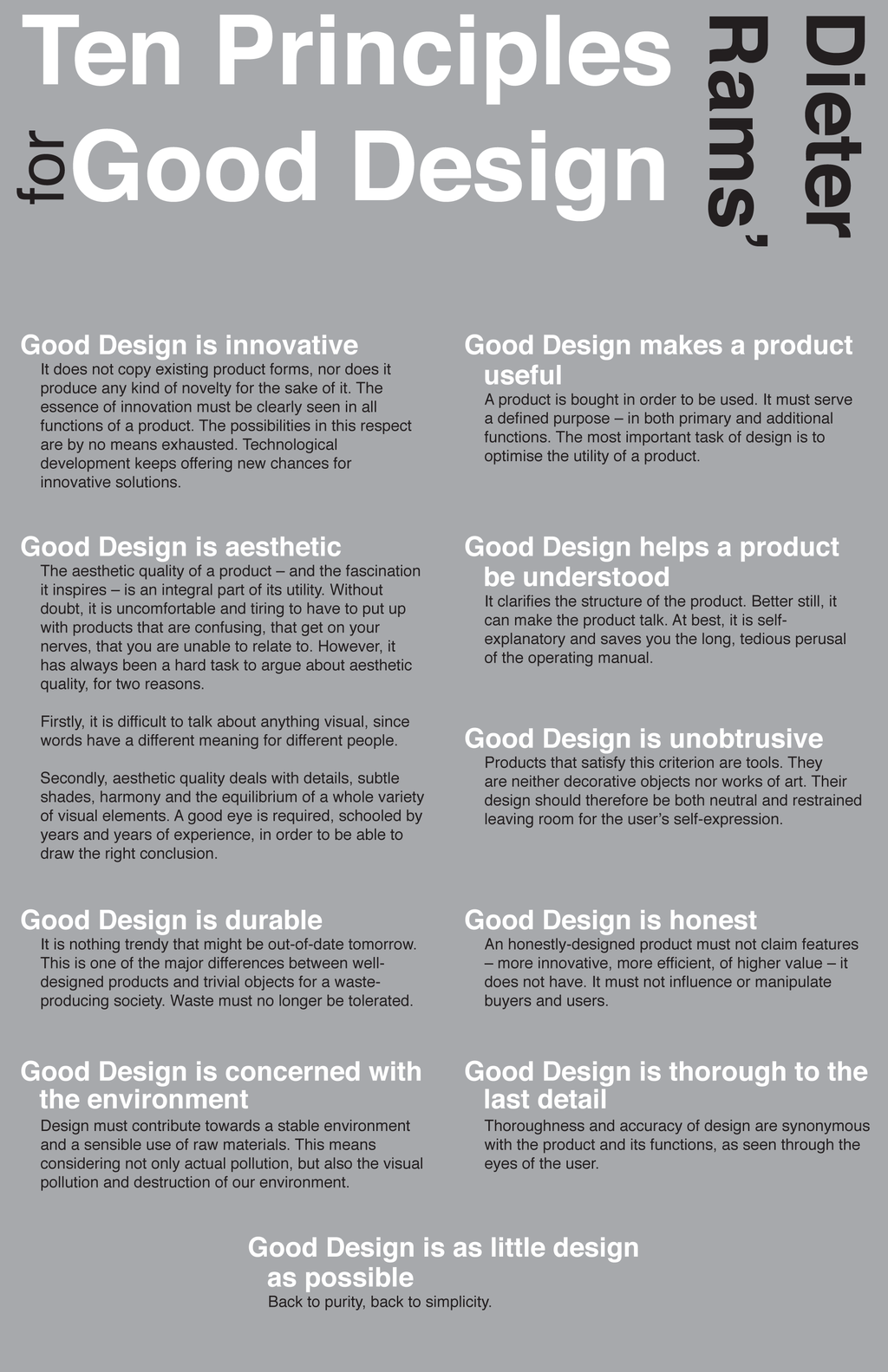 10 Principles For Good Design By Klitaka Sylfaen Design Theory