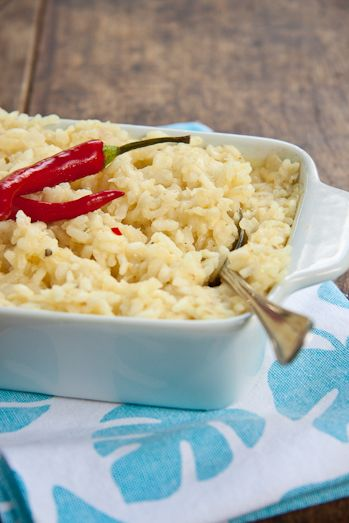 Baked Crab Risotto with Cream cheese & Chilli