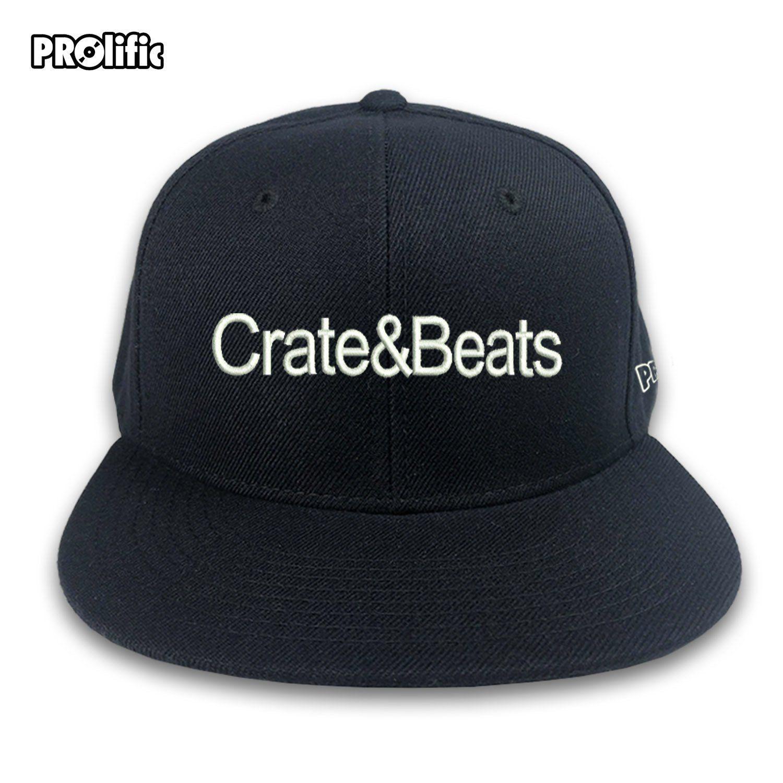 799b306a Crate & Beats DJ Snapback 3D Raised Embroidered Logo Turntablist ...