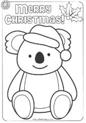 Koala Christmas Colouring Christmas Colors Australian Christmas Christmas Cards Kids