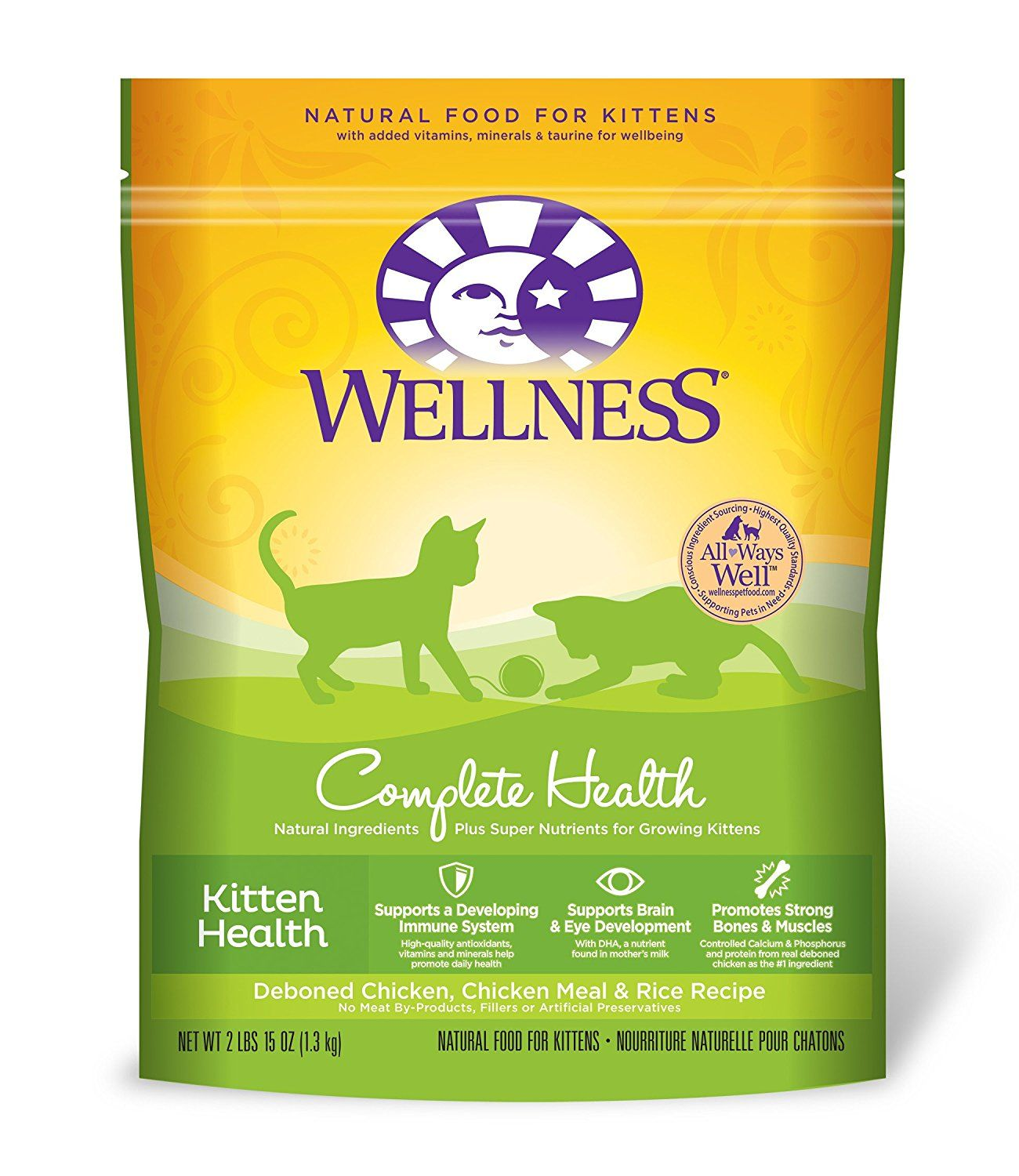 Wellness Complete Health Natural Dry Kitten Food Chicken And Rice 2 9 Pound Bag New And Awesome Cat Product Awa Kitten Health Kitten Food Natural Pet Food