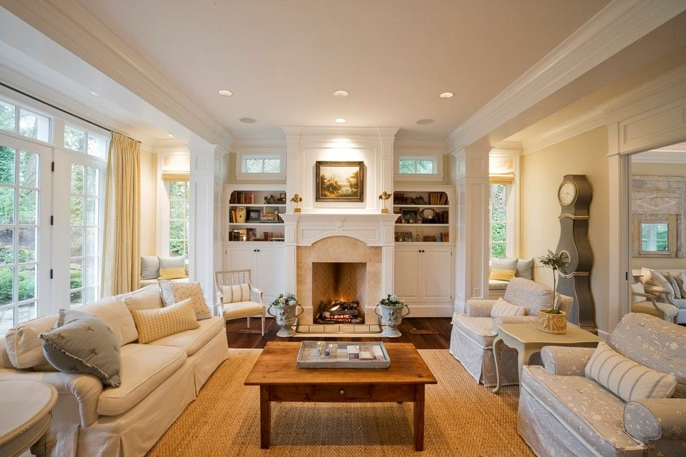 How To Plan A Rectangular Sitting Room With Example Floor: Decorating Rectangular Living Room With Fireplace For Cozy
