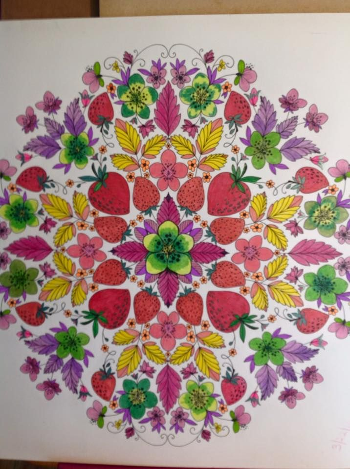 Another Pic From Joyous Blooms To Color I Used Gel Pens And PencilsI Really Love The Paper Quality