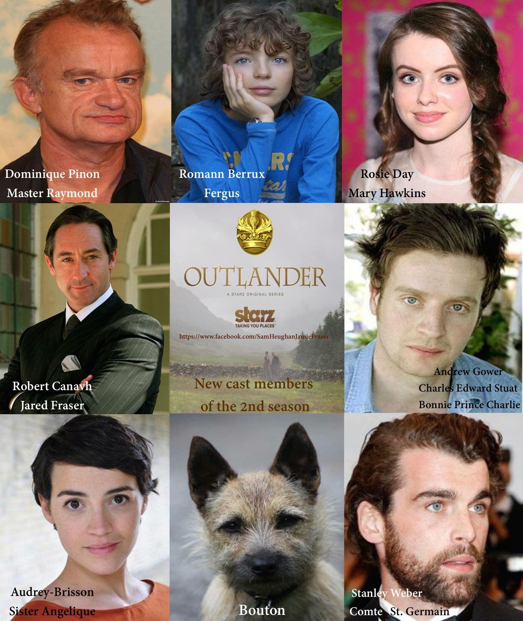 Some Of The Cast For Dragonfly In Amber Outlander S Second Season Gabaldon Outlander Outlander Book Outlander
